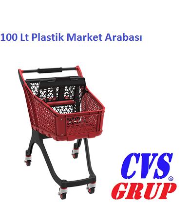 Plastik market arabası 100 lt